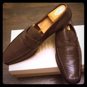 Lizard skin loafers
